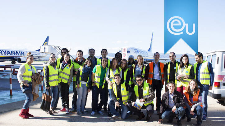 EU Business School Students Visit Girona Airport