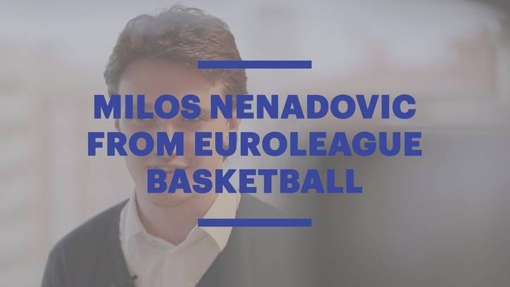 EU Barcelona Alumnus Milos Nenadovic from Euroleague Basketball