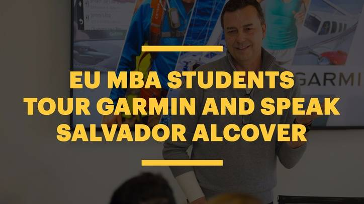 EU MBA Students Tour Garmin and Speak With Managing Director, Salvador Alcover