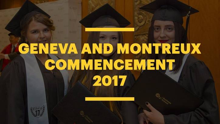 EU Business School Switzerland Commencement 2017