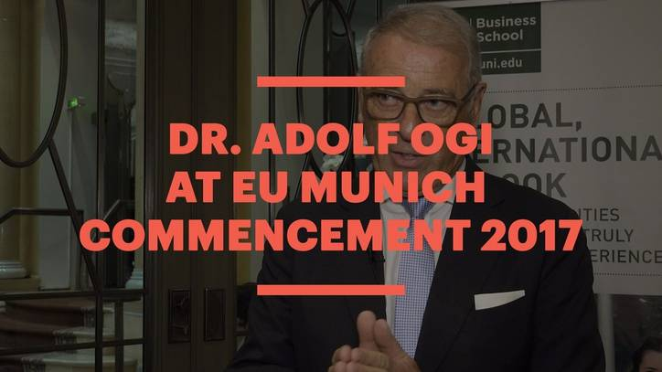 Dr. Adolf Ogi at EU Munich Commencement 2017