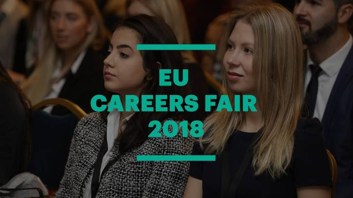 Networking with Business Leaders at the EU Careers Fair 2018 in Barcelona