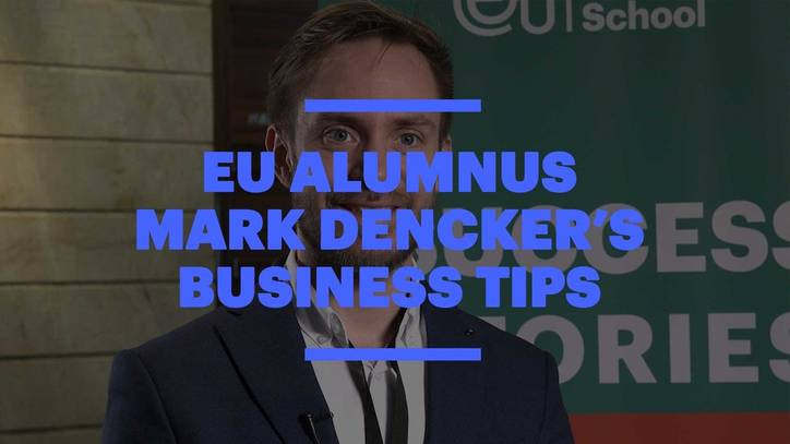 EU Alumnus Mark Dencker: How to Turn your Business Dream into Reality
