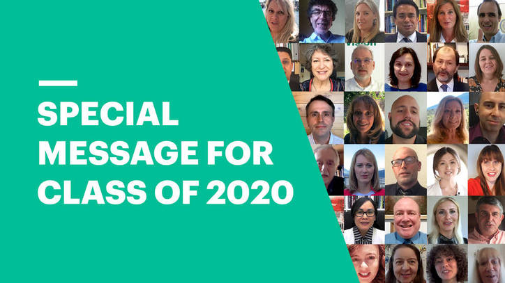EU Business School Staff Congratulate Class of 2020