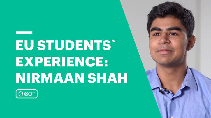 EU Business School Student Testimonial - Nirmaan Shah from India