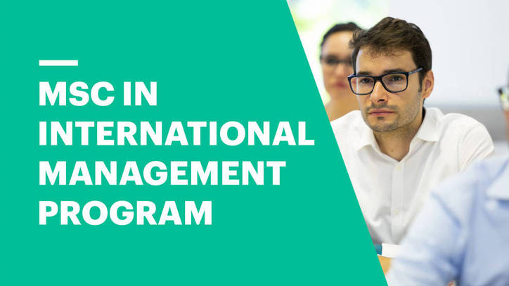 MSc in International Management | EU Business School Munich