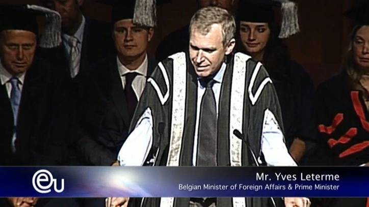 Part 1 - Mr.Yves Leterme - Graduation Ceremony 09 - Business School in Barcelona, Spain - EU Business School